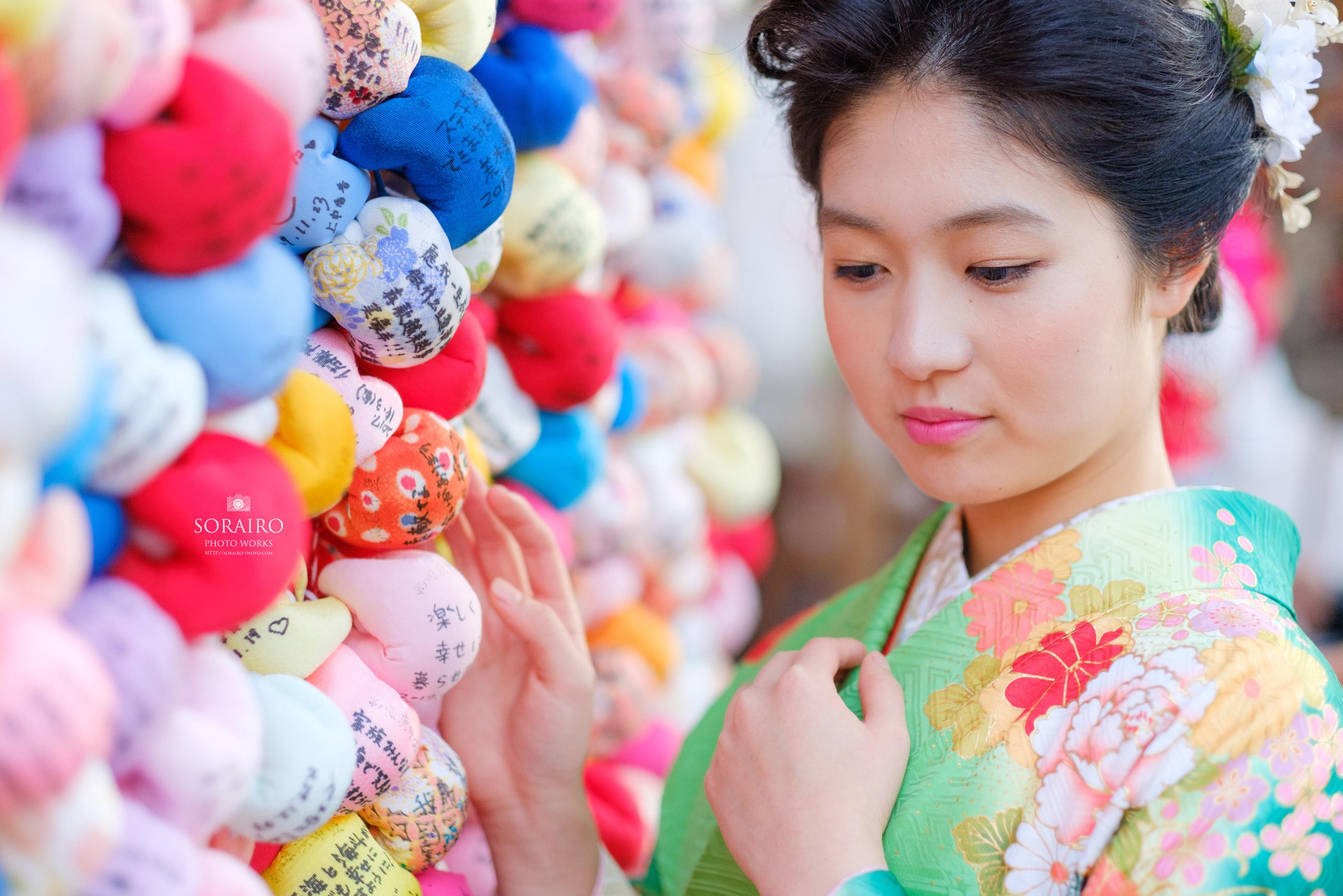 京都東山での成人式ロケーション撮影